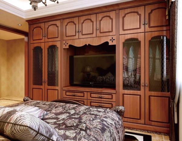 实木整体衣柜门板定制